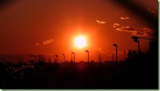 日没直前>微妙な角度でした。